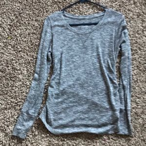 Marbled gray maternity shirt